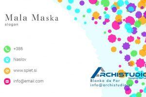 Business Card Mala Maska 1
