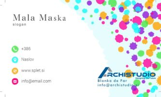 Business Card Mala Maska 1